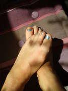 Photos des pieds de Toute douce, bleu