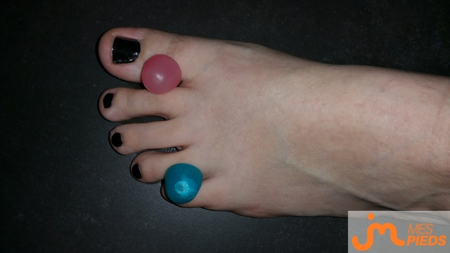 Photo des pieds de Laurine