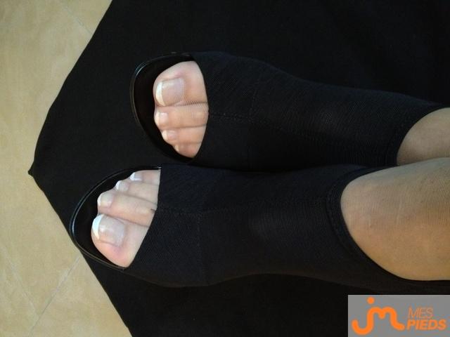 Photo des pieds de La fétichiste...