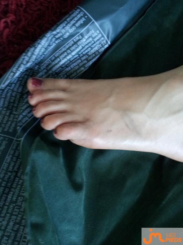Photo des pieds de Platon