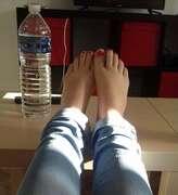 Photos des pieds de Buterfly, Les adorables petits pieds de Ma Femme